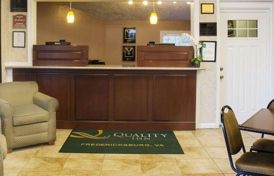 Hotelhalle Quality Inn Fredericksburg near Historic Downtown
