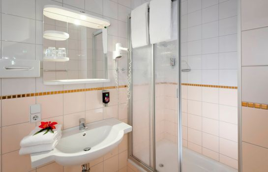 Bagno in camera ibis Styles Berlin City Ost