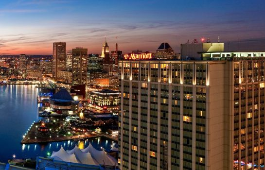 Buitenaanzicht Baltimore Marriott Waterfront