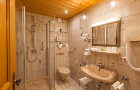 Bagno in camera Zur Grenze Landhotel