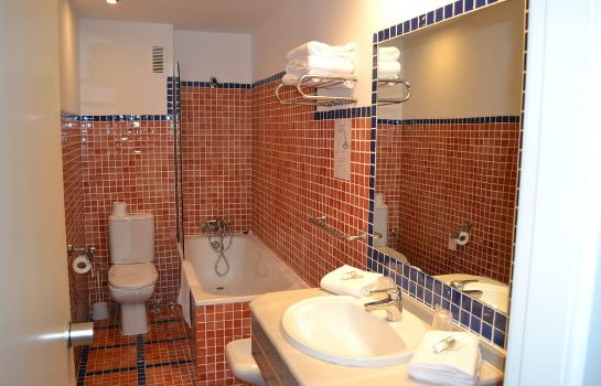 Bagno in camera Hotel Teruel Plaza