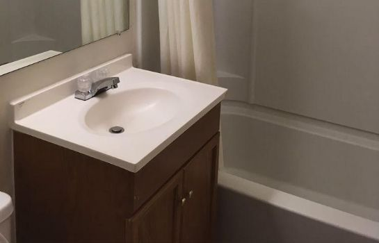 Bagno in camera All Seasons Inn and Suites
