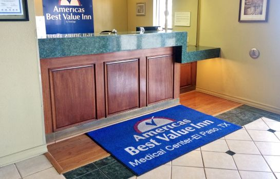 Hall de l'hôtel Americas Best Value Inn El Paso Medical Center Airport Americas Best Value Inn El Paso Medical Center Airport