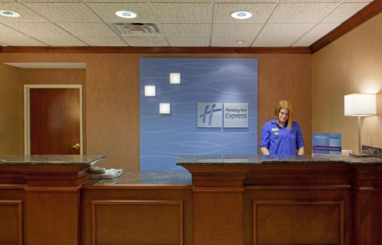 Vestíbulo del hotel Holiday Inn Express & Suites MANCHESTER-AIRPORT