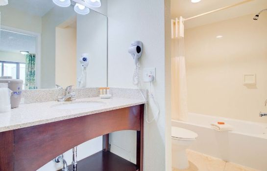 Bagno in camera Boca Raton Plaza Hotel & Suites