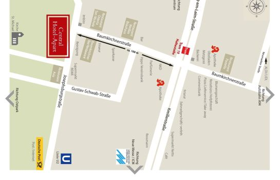 How to find us Central Hotel-Apart