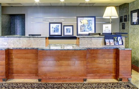 Hotelhalle Hampton Inn  Suites GreenvilleDowntownRiverPlace