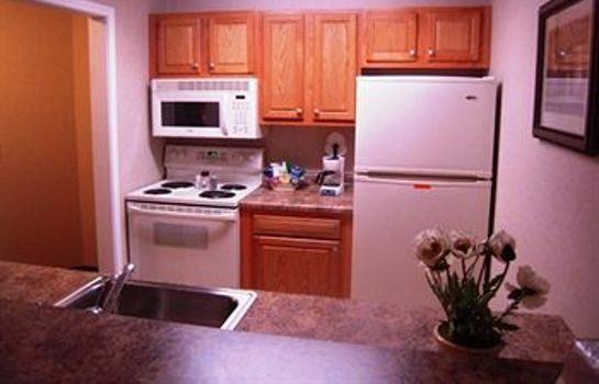 Kitchen in room Albany Airport Cocca's Inn & Suites Wolf Rd
