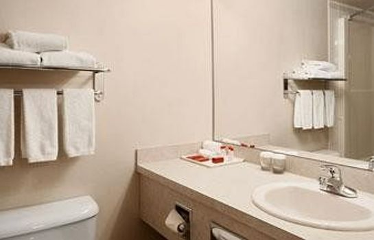 Cuarto de baño Ramada Red Deer Hotel and Suites