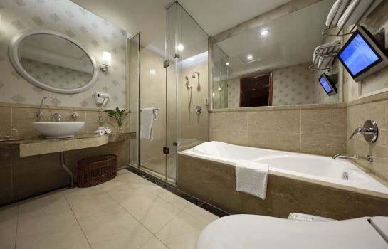 Bagno in camera Dongxing Hanyong Hotel Shajing Branch