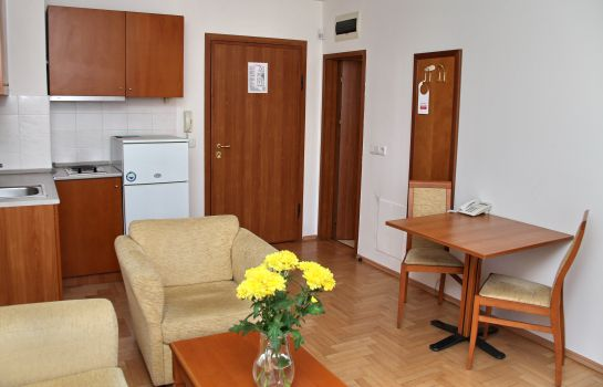 Cucina in camera Dunav Apartment House