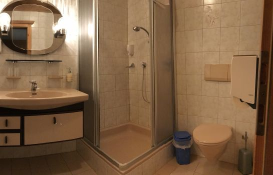 Bagno in camera Almrose Hotel-Pension