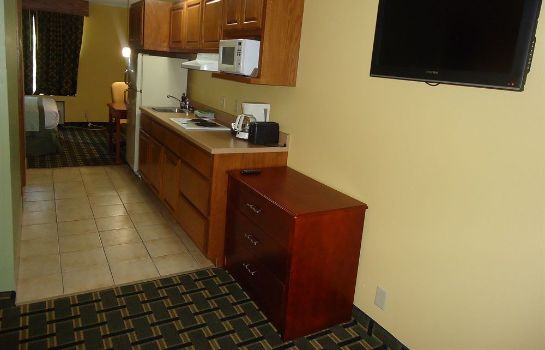 Kitchen in room Town House Extended Stay Hotel Downtown