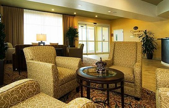 Lobby Comfort Suites Medical Center Near Six Flags