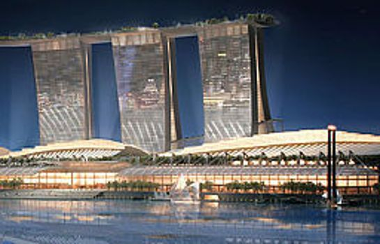 Vista exterior Marina Bay Sands