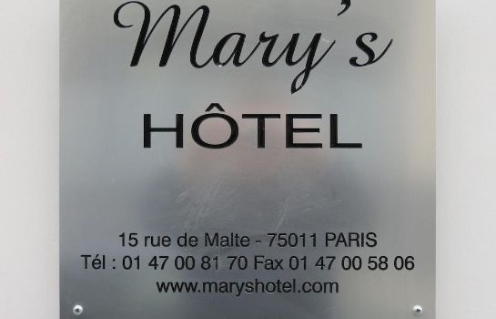 Info Mary's Hotel République Mary's Hotel République