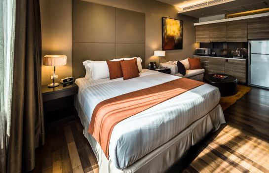 Doppelzimmer Komfort Akyra Thonglor Bangkok formerly Pan Pacific Serviced Suites