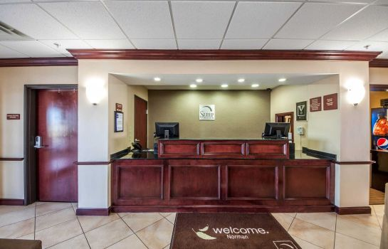 Vestíbulo del hotel Sleep Inn & Suites Norman