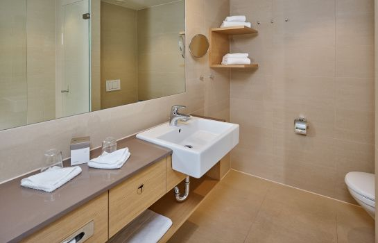 Bagno in camera Seehotel Am Kaiserstrand