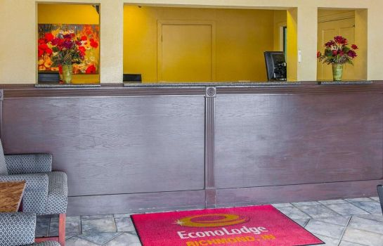 Vestíbulo del hotel Econo Lodge Richmond