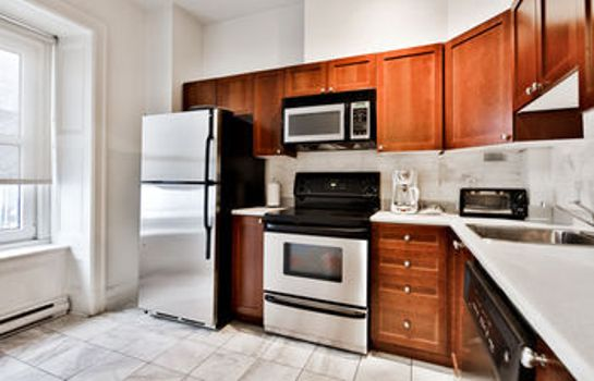 Kitchen in room Residences Apartment Majestik Downtown Montreal