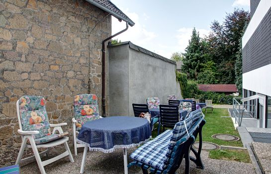 Terrasse Pension Hages