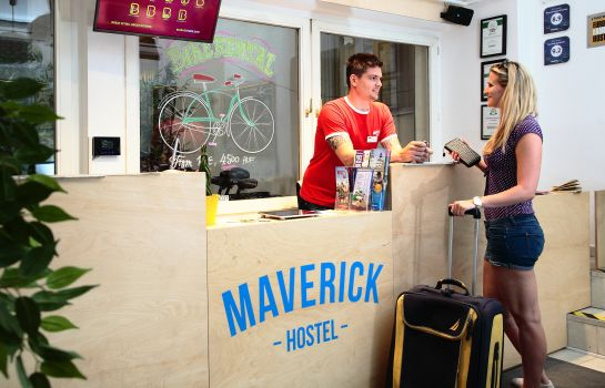 Empfang Maverick Hostel & Ensuites