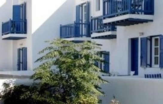 Exterior view Mykonos Chora Apartments