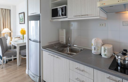 Kitchen in room Kantary Bay Hotel and Serviced Apartments