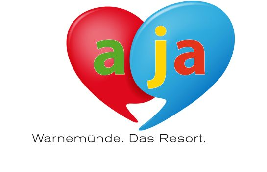 Certificado/logotipo a-ja Warnemünde. Das Resort.