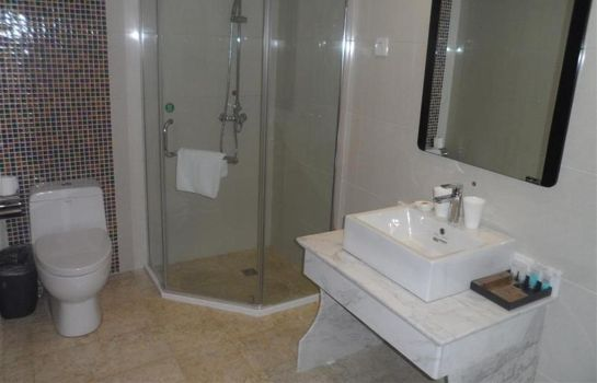 Bagno in camera GreenTree Alliance Rugao Jiuhua Bus Station Hotel Domestic only