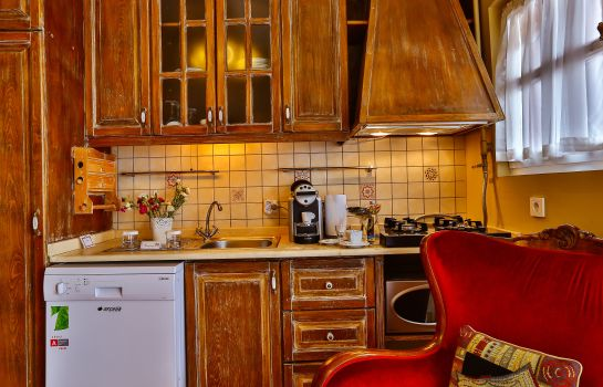Kitchen in room Faik Pasha Hotels