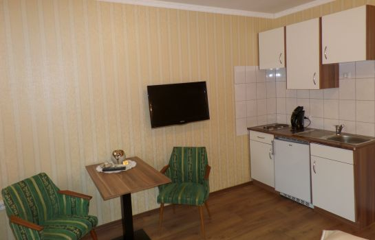Kitchen in room Zum Wiesengrund Pension