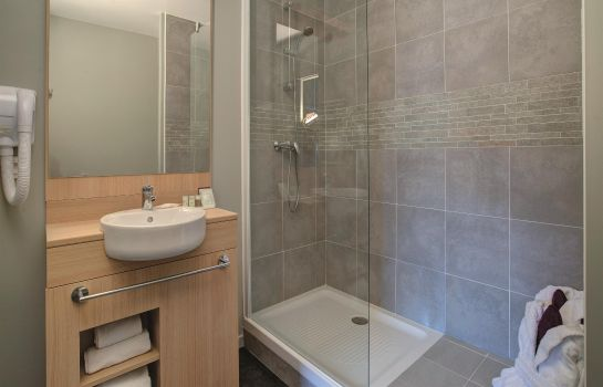 Bagno in camera Appart'City Le Bourget Le Blanc Mesnil