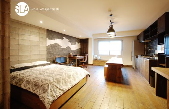 Single room (superior) Seoul Loft Apartments