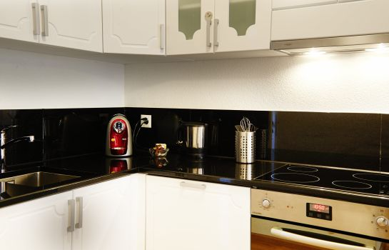 Kitchen in room Residence Apartments by Hotel du Commerce