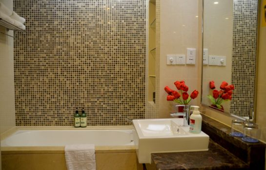 Bagno in camera Sweetome Holiday Apartment Xiasha Eastern International Business Center