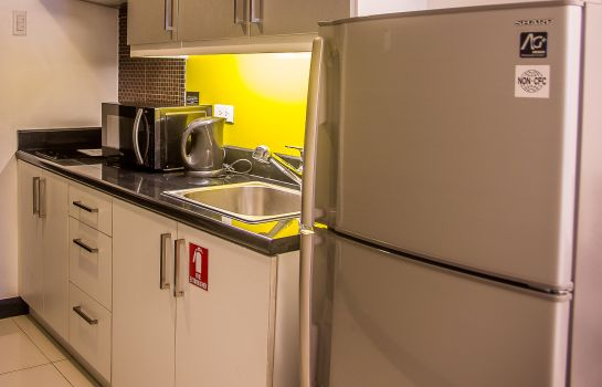 Kitchen in room Y2 Residence Hotel
