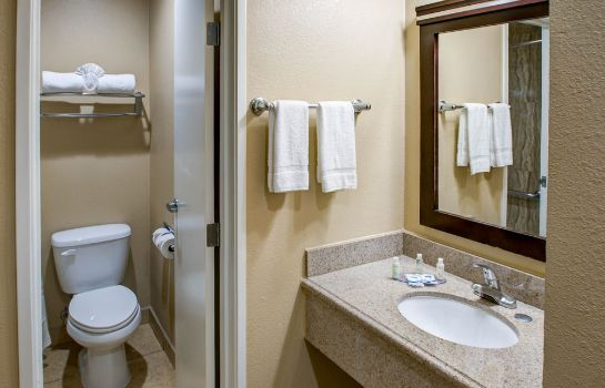 Bagno in camera Rodeway Inn San Diego Near Qualcomm Stadium