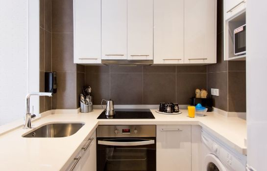 Kitchen in room Valenciaflats Catedral