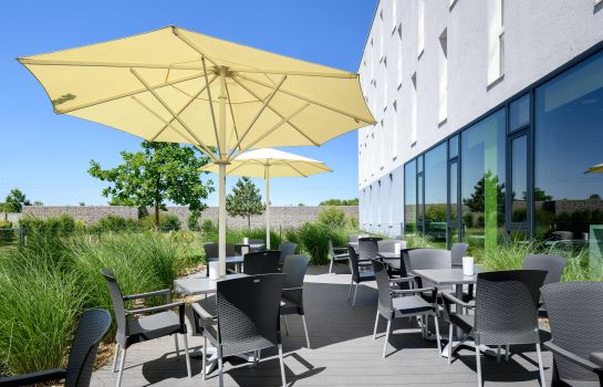 Terrasse ibis budget Muenchen City Olympiapark