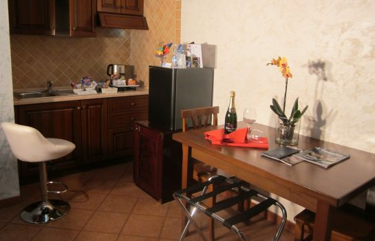 Cucina in camera Euro House Inn Fiumicino Airport