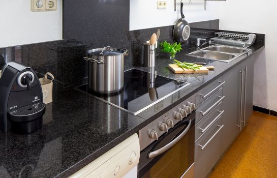Kitchen in room Athenou apartaments