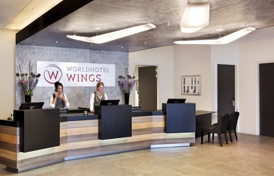 Vestíbulo del hotel Worldhotel Wings Rotterdam The Hague Airport