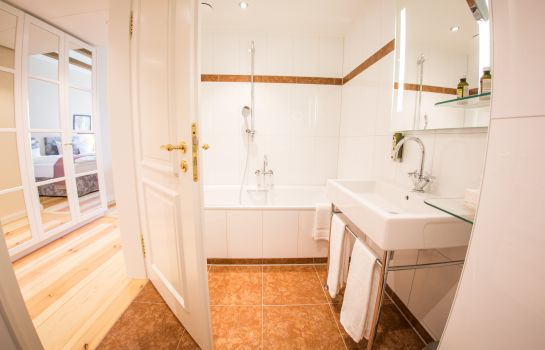 Bagno in camera Hotel Schloss Leitheim