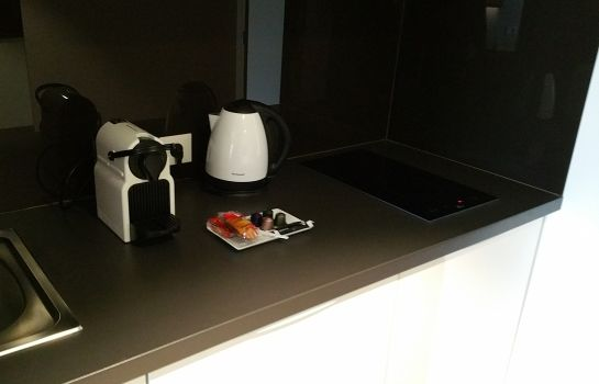 Keuken in de kamer All Suites Appart Hotel Bordeaux-Pessac