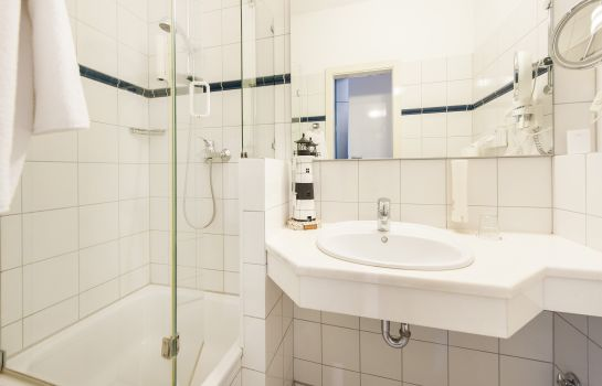 Bagno in camera Hotel Birke Apartments Waldesruh