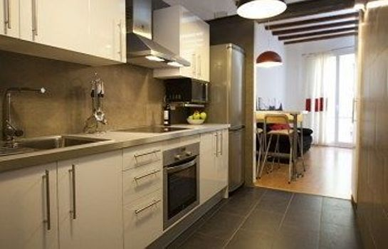 Kitchen in room Ramblas Liceu