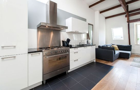 Cucina in camera Plantage Hortus Apartments
