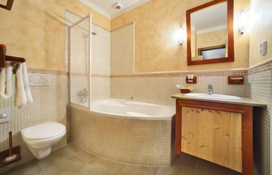 Bagno in camera Castle View Apartments